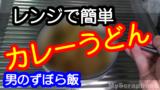 電子レンジでお手軽美味しい100円カレーうどんの作り方
